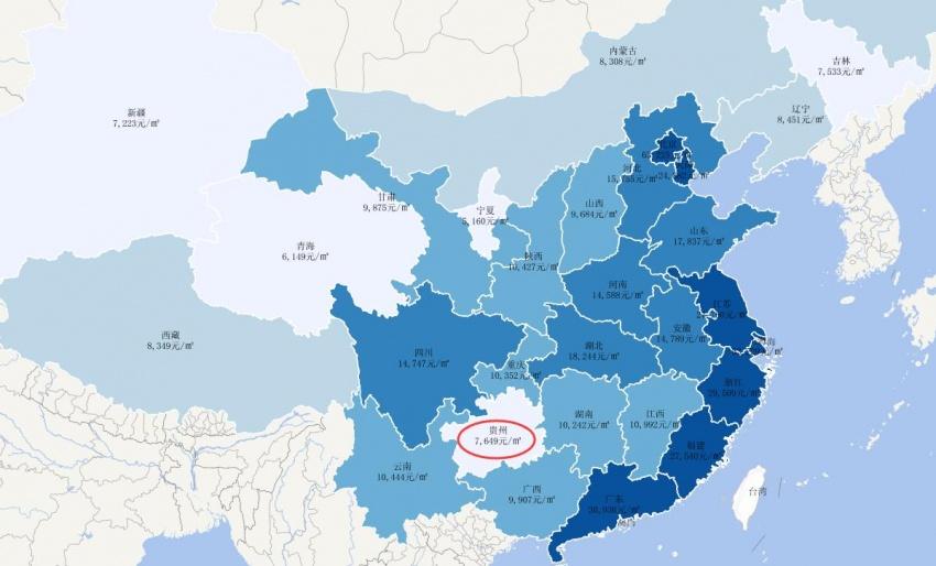 12月全国省会城市二手房房价地图图片
