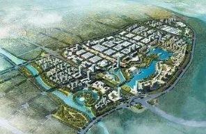 """淮州新城未来城市空间结构:""""一主两副""""""""三港五片"""""""