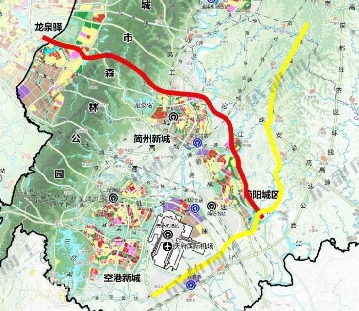 成都东西城市轴线简阳城区段要开建了!长约17.4公里